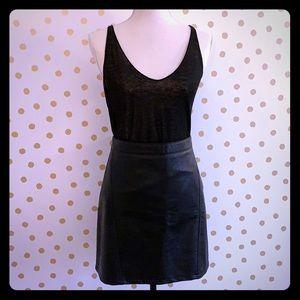 Zara Knit. Sheer black tank top.